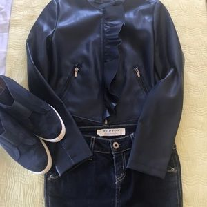 XS Zara Pleather Jacket